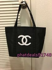 Chanel white sequined shopping tote