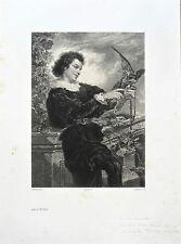 Lithographie, Fauconnerie,  Célestin Nanteuil d'après Thomas Couture, 1850