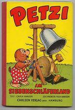 Petzi im Siebenschläferland HC. Nr. 7 Original 1956  fast Top Zustand. (1+)