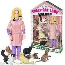 Crazy Cat Lady Action Figure - Toy Cats Lover Novelty Kitsch Gift Funny Kitten