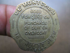 Vintage Purchase of Suit or Overcoat Token Quebec Canada