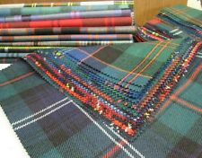 Tartan Patchwork Fabric Offcuts 10 Pieces Perfect for Crafts 23cmx23cm