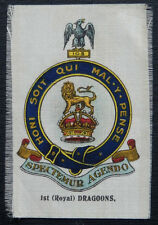 1st ROYAL DRAGOONS Silk Anon Card Issued in 1914