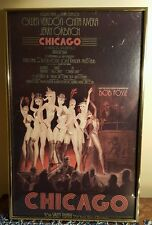 Original 1975 Chicago Window Card/Poster - Broadway - Framed -Great Condition!