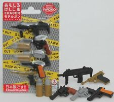Toy Iwako Japanese Puzzle Eraser Pistol Gift Card Blister Set New