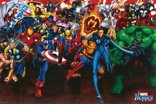 #Z005 Marvel Heroes Collage Poster 24X36