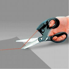 1PC Laser Guided Sewing Cut Straight Fast Easily Fabric Paper Craft Scissors New