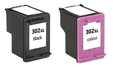 2x Cartucce stampante HP 302xl 1x color 1x BLACK COMPATIBILE CON HP Officejet 3830
