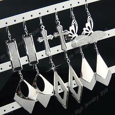 New 6Pairs Mix Silver Frosted Fashion Women Long Drop Earrings Wholesale Lots