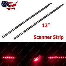 "2pcs 12"" Hot Red 22-SMD Scanner Knight Rider Lighting Strip car interior"