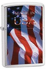 Zippo 24797 made in usa flag Lighter