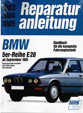Manual de reparaciones BMW serie 5 E28 520i 525i 525e 528i M535i