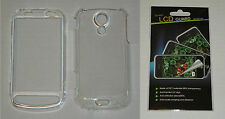 Clear Hard Plastic Case & Screen Protector For Samsung Epic 4G D700