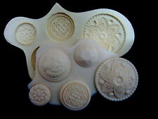 Sugarcraft Mold Fondant Mould Sugar Paste Cupcake Clay Resin, Button #2