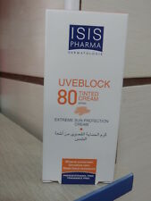 ISIS PHARMA  UVEBLOCK SPF 80 / TINTED CREAM EXTREME SUN PROTECTION CREAM  40 ML