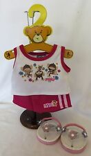 BUILD- A-BEAR Workshop LIMITED TOO FUNKY MONKEY FLORAL SHORTS Outfit w/SANDALS