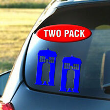 Dr Who Tardis - Decal TWO PACK - Amy, Clara, Rory, Weeping Angel, Time, Lord
