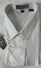 100% pure silk mens shirts white color size L 16-16.5