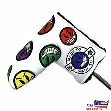 joker smiley face Putter Cover Headcover For Scotty Cameron Odyssey Blade