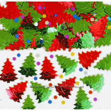 Red + Green Christmas Tree Table Confetti Party Decorations Sprinkles Card Craft