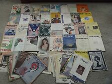 79 Vintage Sheet music sheets 1900 to 1930  Bulk Lot
