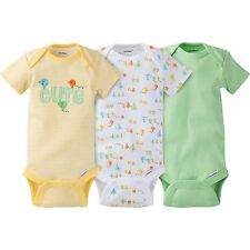 NEW Gerber Newborn Baby Girl or Boy Onesie Bodysuit 3 Pack Unisex Size 0- 3