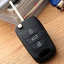 3 Buttons Remote Key Fob Blade Flip Folding Shell Case Cover for Hyundai i20 i30