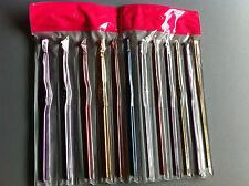 12 crochets aluminium  tricot aiguilles laine coton taille 2 à 8 mm