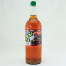 Aceto di Sidro di Mele con Madre Puro Non Filtrato 1 Litro in Bottiglia di Vetro