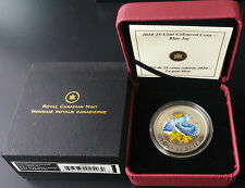 2010 25-cent Blue Jay Coin - Coloured Coin - W Case & COA - Royal Canadian Mint