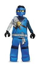 LEGO Ninjago JAY Blue Ninja Prestige HALLOWEEN COSTUME Youth Size SMALL 4/6