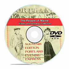 Maine ME, People, Civil War, Family Tree History Genealogy 121 Books DVD CD B04