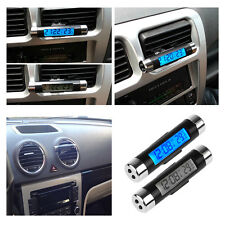 Auto-Car-LED-Digital- Vent-Clock-Thermometer-Indoor-Outdoor-Temperature-Voltage