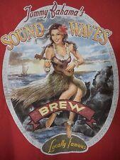 Shirt Tommy Bahama XL  Sound Waves Brew Girl Hula Uke Tropics