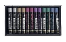 12 REEVES METALLIC OIL PASTELS PIGMENT GOLD SILVER BLUE COLOUR ARTIST QUALITY