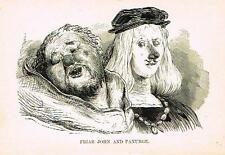 "Rabelais's' Satire - ""FRIAR JOHN AND PANURGE"" - Lithograph by Dore -1880"