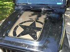 Jeep Wrangler TJ Vinyl Distressed Army Star Hood Decal TJ U PICK COLOR