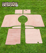 VW T5 Transporter LWB Camper / Day Van Interior Panels 3.6mm Ply Lining Trim Kit