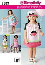 NEW Simplicity Precious Patterns Toddlers Sewing Pattern 2383 Pillowcase Dresses