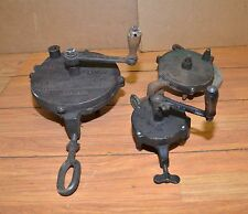3 blacksmith hand grinders collectible forge shop sharpening axe knife tool lot