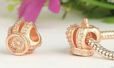 ROSE GOLD PLATED ROYAL CROWN CHARM BEAD
