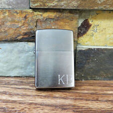 Zippo Lighter - Personalized - Brushed Chrome - Groomsmen Gift - (495)