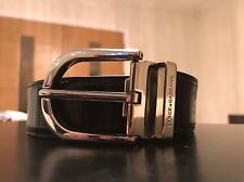 Dolce & Gabbana Black Leather Belt, size - 40/100, M, W32-34""