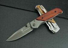 New BROWNING BK02 Pocket Knife Blade Folding Knife Camping Tools