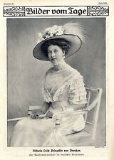 Viktoria Luise Prinzessin von Preußen zur Konfirmationsfeier von 1909