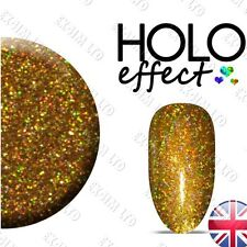 GOLD HOLO LASER MERMAID EFFECT NAIL POWDER  GEL HYBRID ACRYLIC Holographic 15