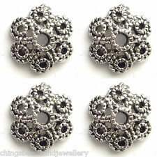 40 Antique Silver 12mm Tibetan Silver Bead Caps