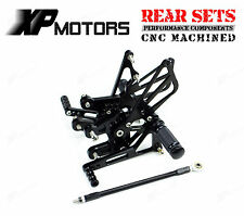 Adjustable Rearset Foot Pegs Rear Sets For Suzuki GSXR1000 K7,K8 2007-2008 Black