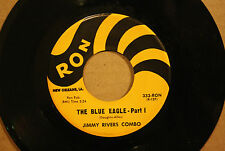 JIMMY RIVERS COMBO **THE BLUE EAGLE** (Parts I & 2) New Orleans Blues 45 RON 333