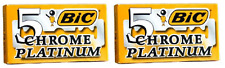 BIC Chrome Platinum Double Edge Safety Razor Blades, 10 Count